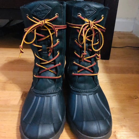 279c30a82266 Sperry Saltwater Wedge Reeve Waterproof Boot. M 5c634a37c9bf50152a7cc3a7